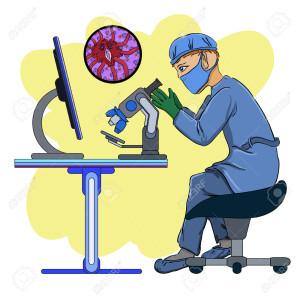 42837960-lo-scienziato-in-laboratorio-che-indaga-i-virus-in-un-microscopio-archivio-fotografico